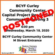 BCYF Curley March 2020 Meeting Postponed