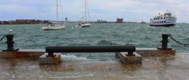 Image for an image of flooding along boston harbor